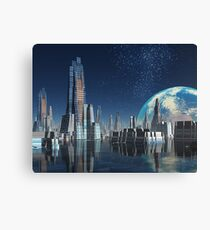 Moon Base Theta Canvas Print