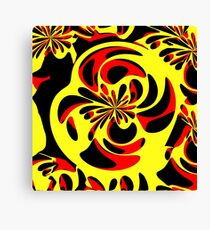 Yellow red and black Canvas Print