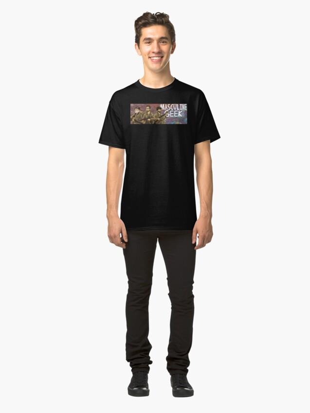 Alternate view of Masculine Geek Classic T-Shirt