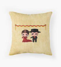 Spanish Chibis Throw Pillow