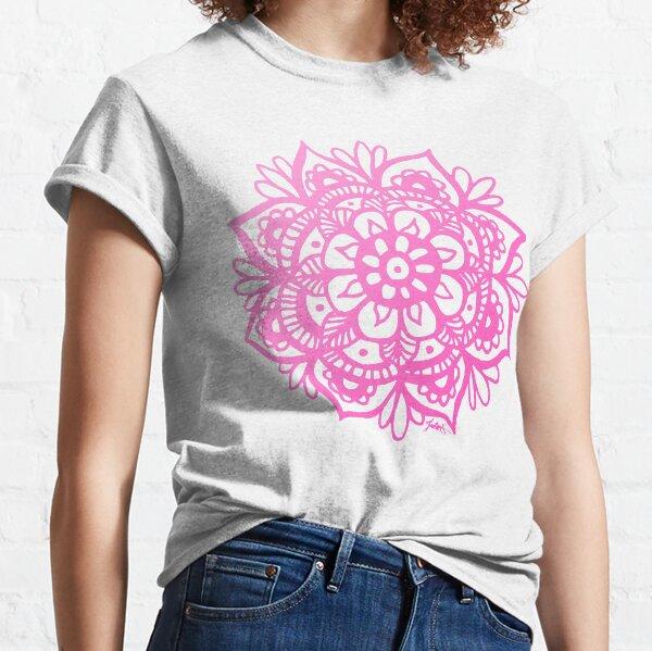 Pastel Pink Mandala Flower Classic T-Shirt