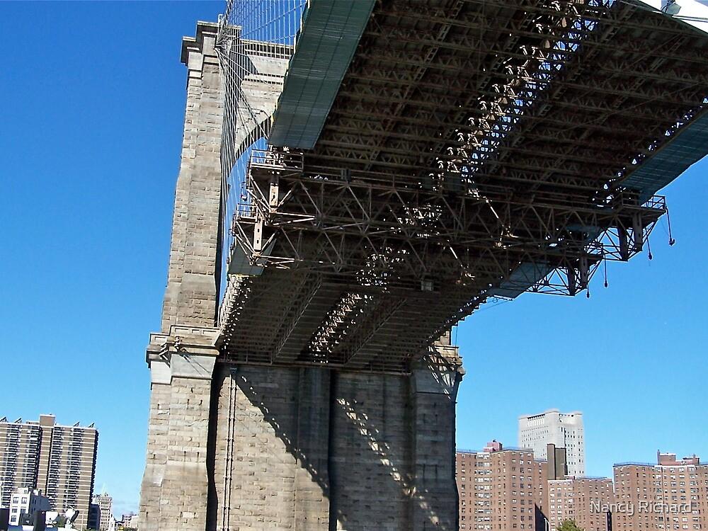 Brooklyn Bridge (a new perspective) by Nancy Richard
