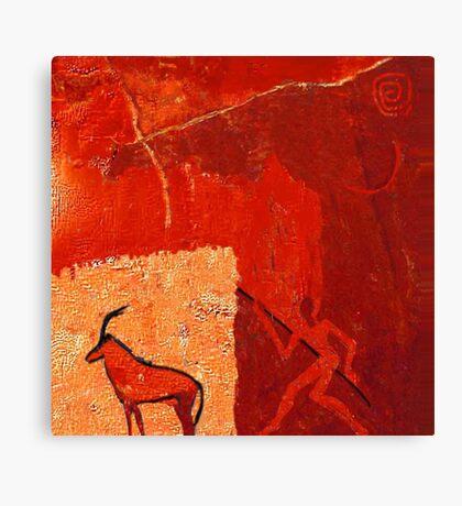 Hunting 2 - rock paintings 2001 Canvas Print
