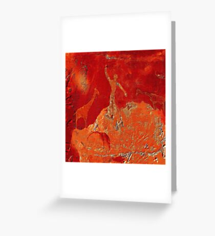 Animals - Rock Paintings 2001 Greeting Card