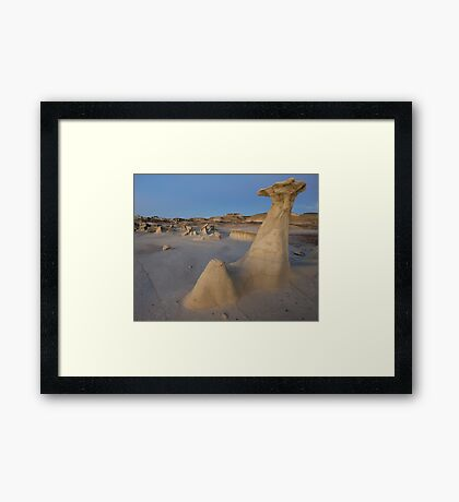 Bisti Hoodoo at Dusk Framed Print