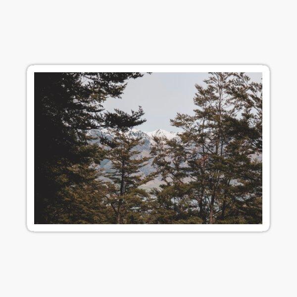 Hidden mountains Sticker