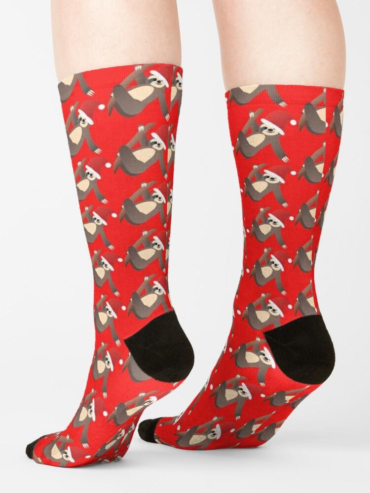 Alternate view of Merry Slothmas Socks