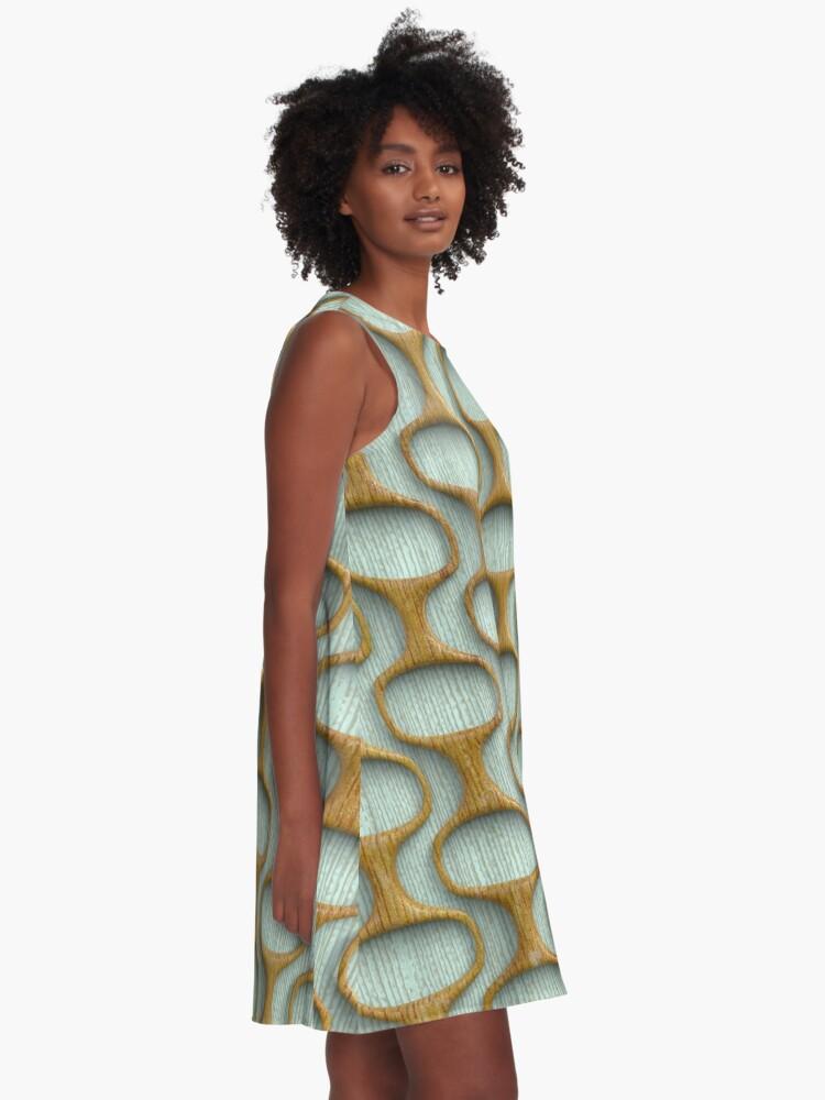Alternate view of 60s Mod Woodwork A-Line Dress
