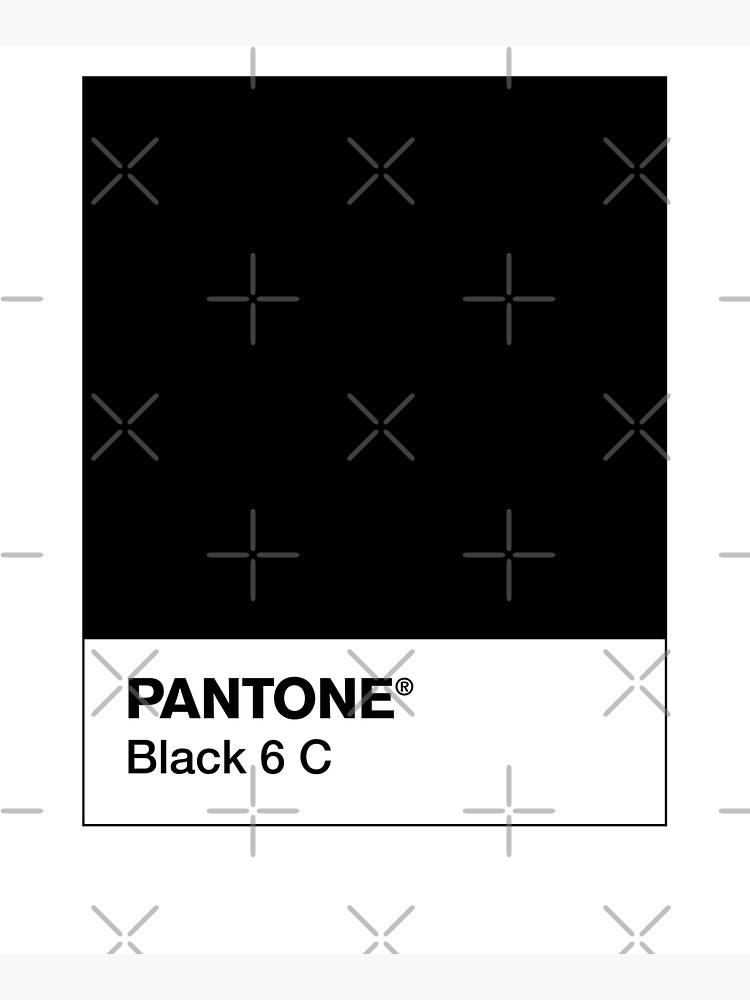 PANTONE BLACK 6 C by camboa