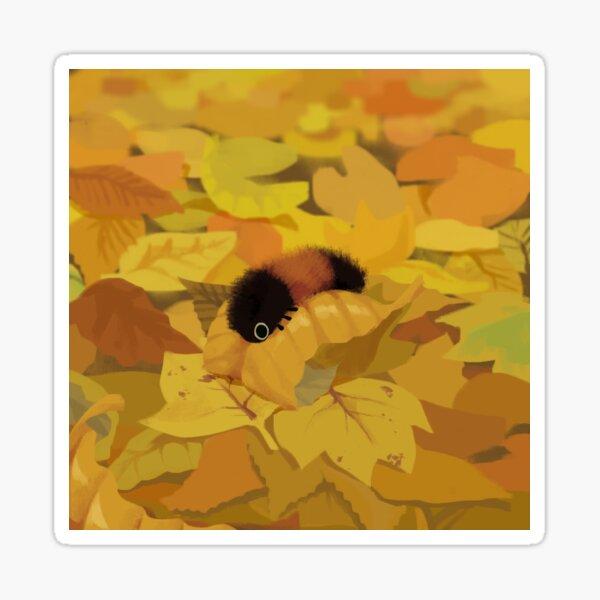 Wooly Bear Leaf Sticker