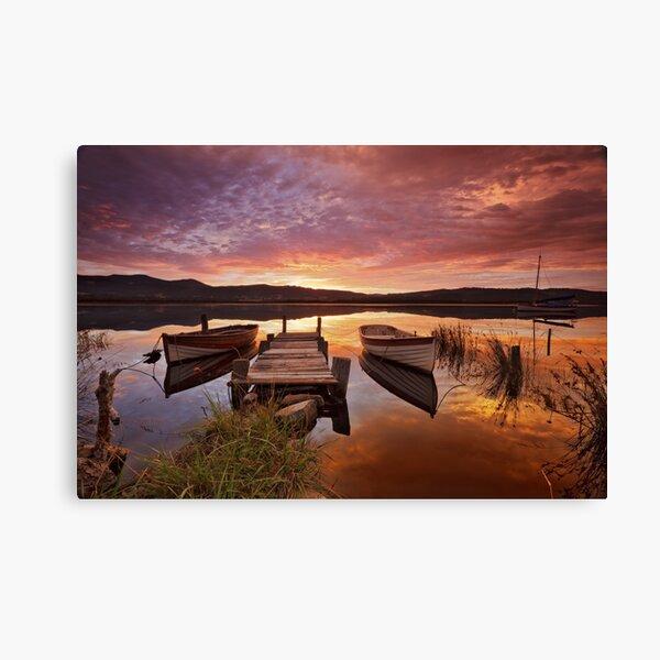 Row Boats, South Franklin, Tasmania Canvas Print