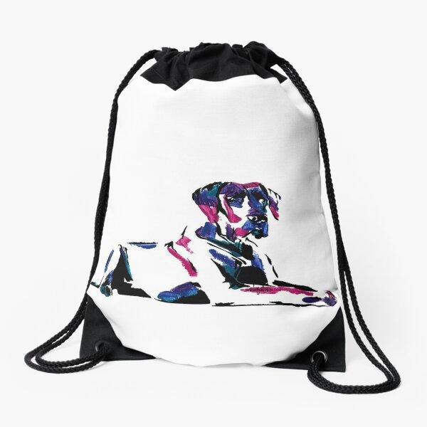 Shirley the Great Dane *dark Drawstring Bag