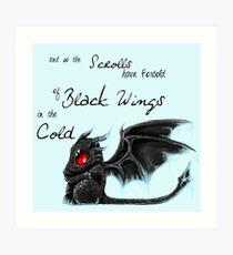 Black Wings Art Print