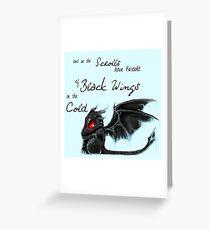 Black Wings Greeting Card