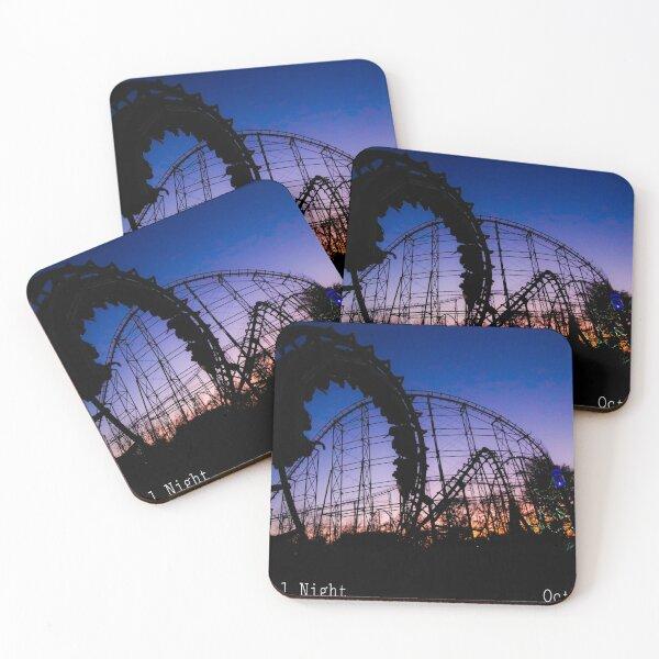 Vortex's Final Night - Kings Island Coasters (Set of 4)