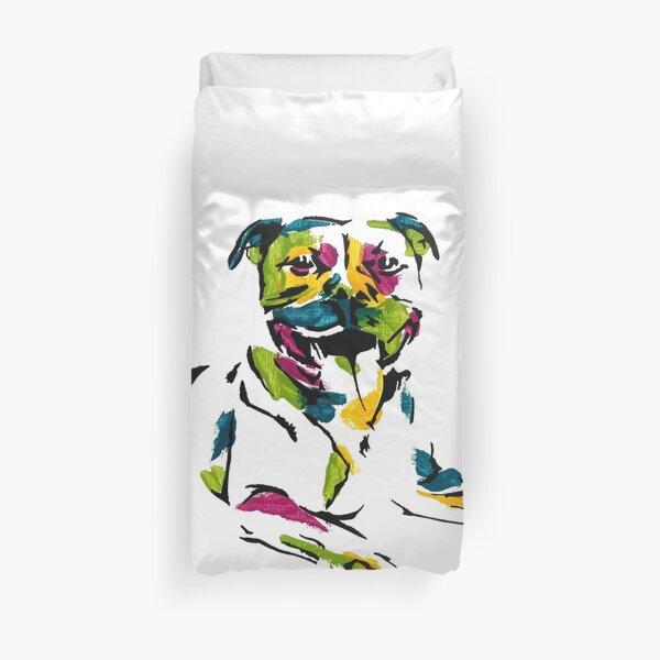 Boris the Staffordshire Terrier *dark Duvet Cover