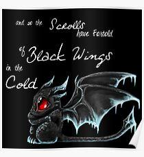 Black Wings (White Lettering) Poster