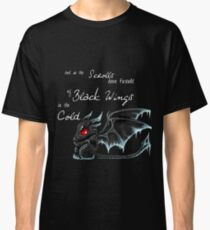 Black Wings (White Lettering) Classic T-Shirt