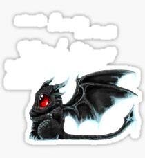 Black Wings (White Lettering) Sticker