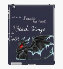 Black Wings (White Lettering) iPad Case/Skin