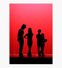 Dancers Waiting on Stage Photographic Print