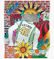 Brittney Griner Drawing Poster