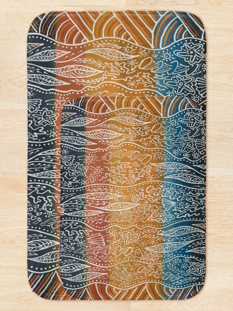 Alternate view of Rainforest Meets The Reef Bath Mat