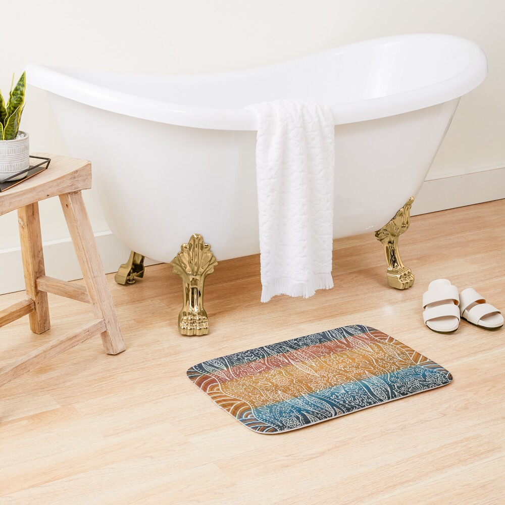 Rainforest Meets The Reef Bath Mat
