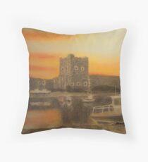 Carrickfergus Castle at dawn Throw Pillow