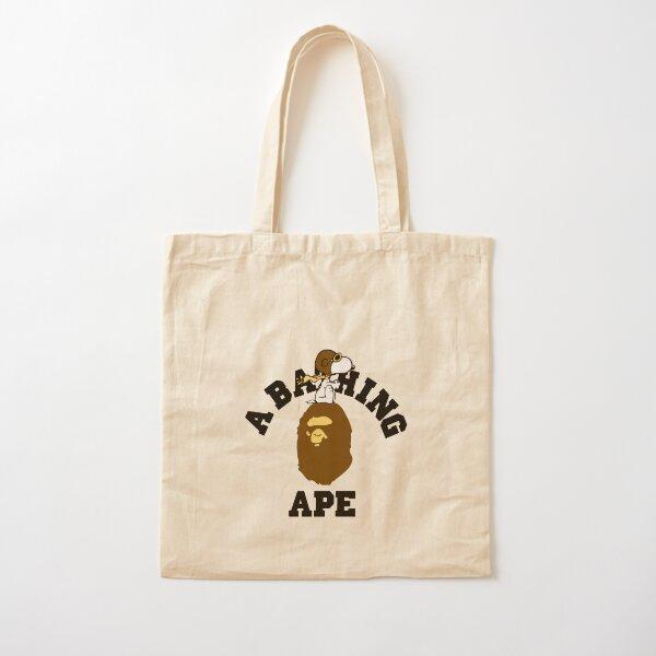 Bape A Bathing Ape Womens Canvas Carrying Handbag Handle Green Shopping Tote Bag