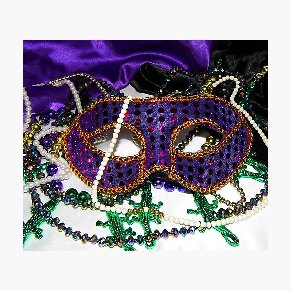 Mardi Gras Mask 3 Photographic Print