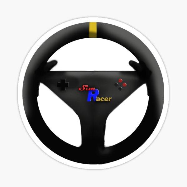 Sim Racer Steering Wheel-Multicolor Sticker