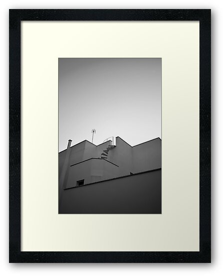 The sky & a building. by Luke Griffin