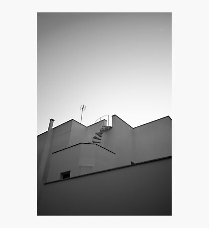 The sky & a building. Photographic Print