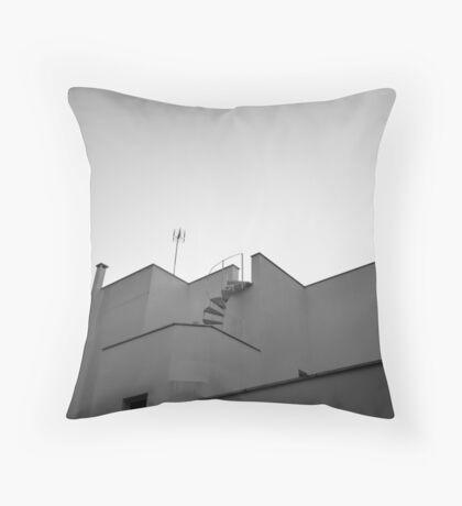 The sky & a building. Throw Pillow
