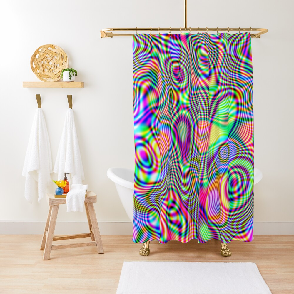 Abstraction #E Shower Curtain
