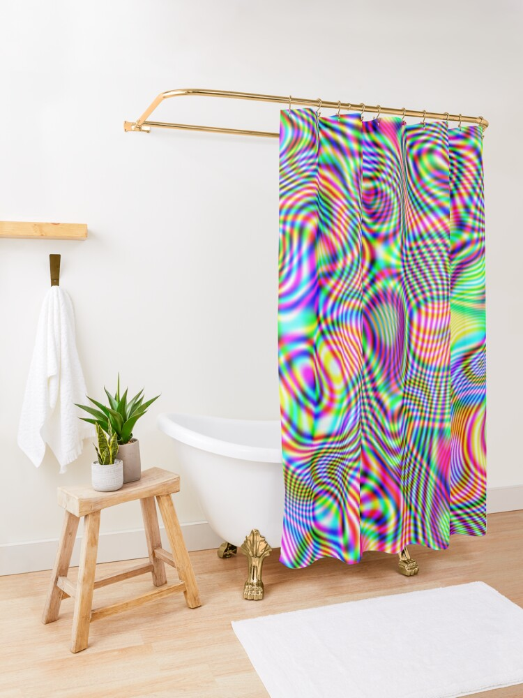 Alternate view of Abstraction #E Shower Curtain