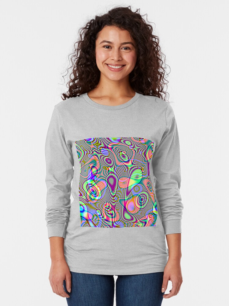 Alternate view of Abstraction #E Long Sleeve T-Shirt