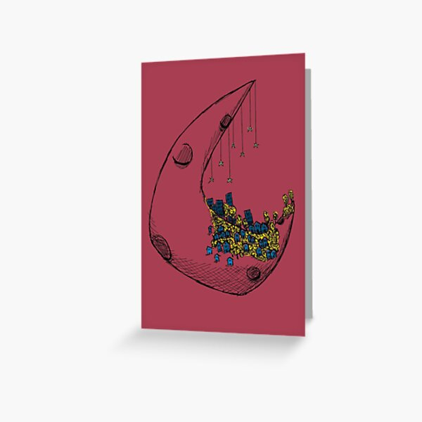 On the moon Greeting Card