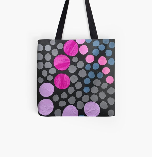 """""""Nocturnal visualisation"""", multicoloured dot, paper collage. All Over Print Tote Bag"""