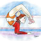 Rhythmic Gymnast by DarkRubyMoon