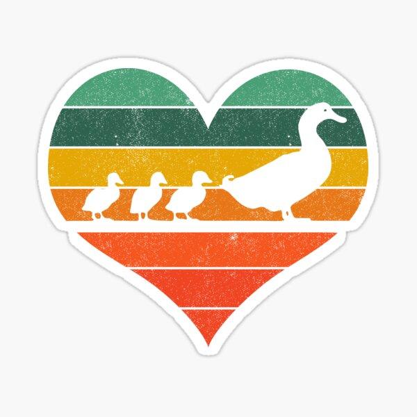 Mama Duck 3 Ducklings Sticker