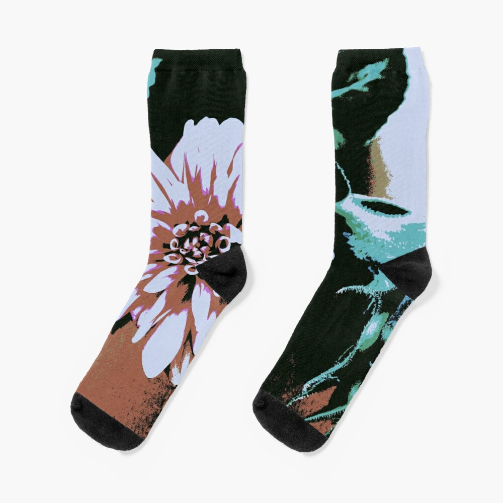 Vintage Blume Socken