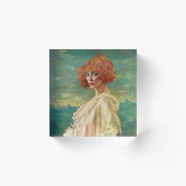 The Marchesa Casati by Augustus Edwin John (1919) Acrylic Block