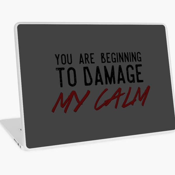 You Are Beginning to Damage My Calm Laptop Skin