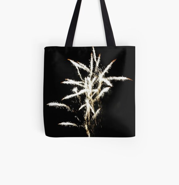 fireworks All Over Print Tote Bag