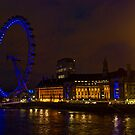 London Eye by night by Mahjabeen Mankani