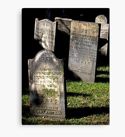 Jewish Cemetery Canvas Print