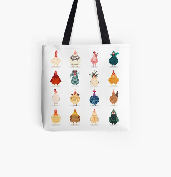 Cute Chicken All Over Print Tote Bag