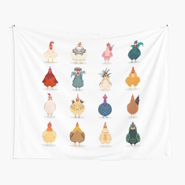 Cute Chicken Tapestry